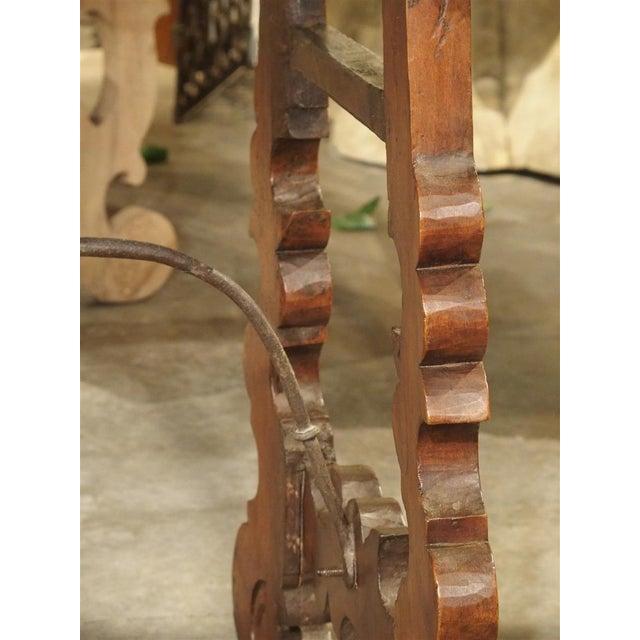 Circa 1750 Italian Walnut Wood Writing Table For Sale - Image 12 of 13