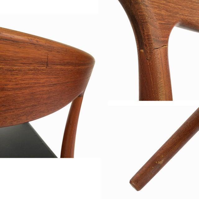 1960's Danish Mid-Century Modern Arne Hovmand-Olsen Model Mk 310 Teak Dining Chairs - Set of 6 For Sale - Image 10 of 13