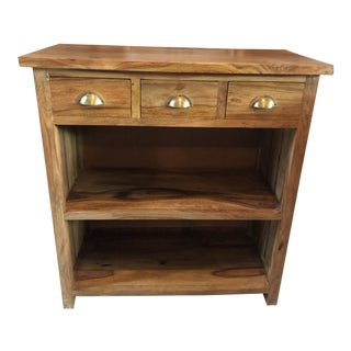 Modern Sustainable Hardwood Storage Cabinet For Sale