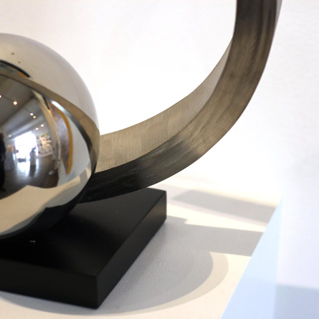 """Metal """"Quest for Enlightenment"""" Stainless Steel Sculpture For Sale - Image 7 of 9"""