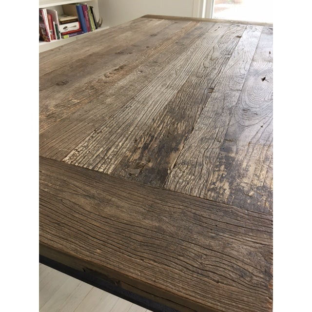 Restoration Hardware Flat Iron Dining Table