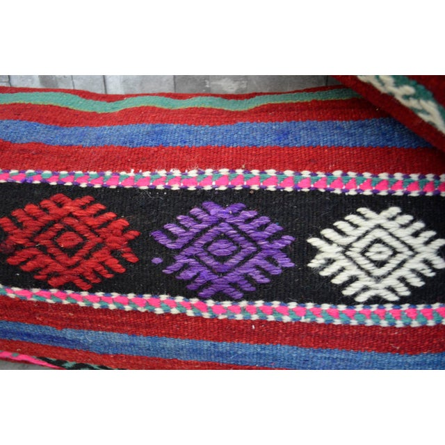 Vintage Turkish Kilim Lumbar Pillow Covers - A Pair For Sale In Raleigh - Image 6 of 6