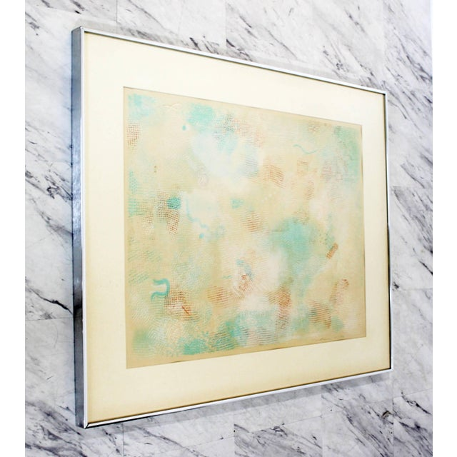 Robert Natkin Mid-Century Modern Framed Abstract Litho Robert Natkin Dated 1970s For Sale - Image 4 of 8