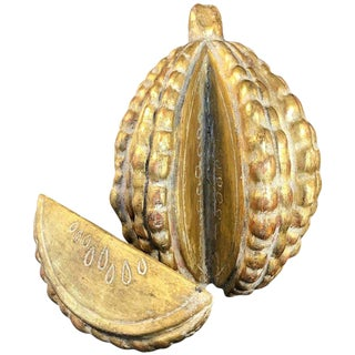 22-Karat Water Gilt Segmented Fruit Decorative Accessory For Sale