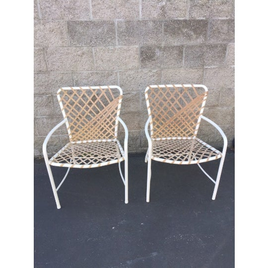 Brown Vintage Brown Jordan Sculptural Tamiami Patio Chairs - a Pair For Sale - Image 8 of 8