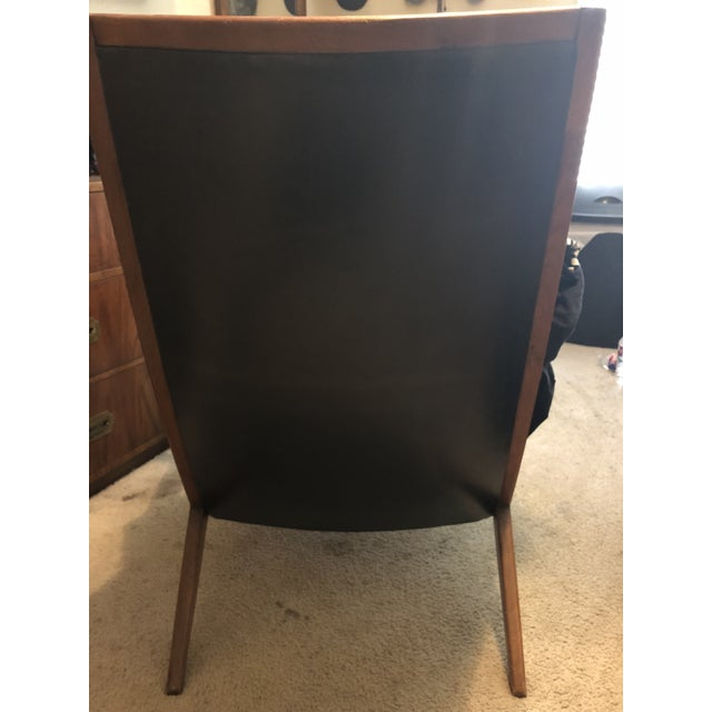 Brown Barney Flagg for Drexel Mid-Century Modern Parallel Chair and Ottoman For Sale - Image 8 of 8