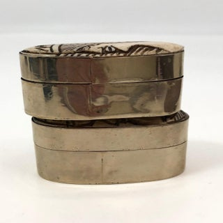 20th Century African Carved Bone and Silver Trinket Boxes - a Pair Preview