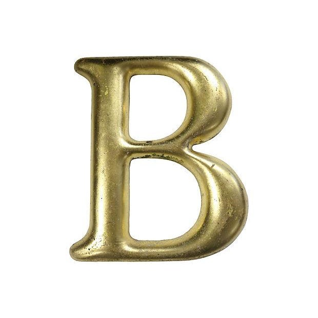 "Vintage English Pub Sign Letter "" B "" - Image 1 of 2"