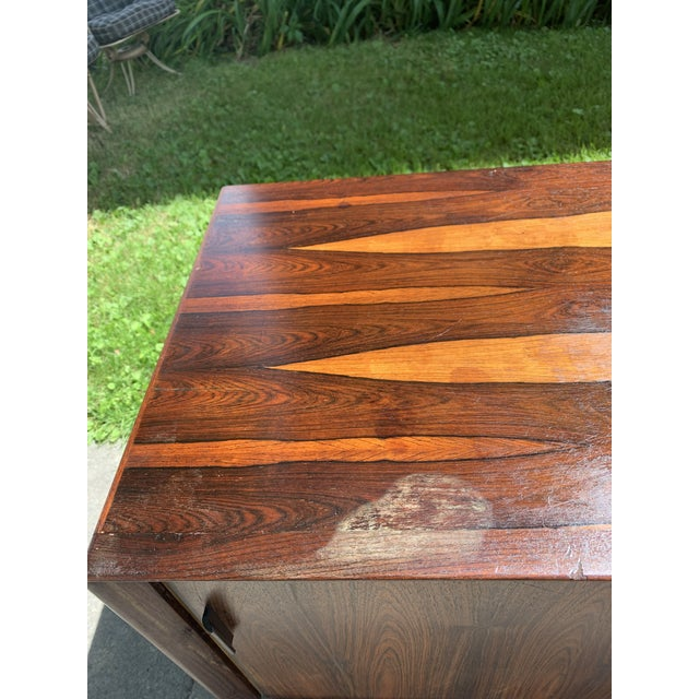Mid-Century Svend Madsen for Falster Compact Rosewood Credenza For Sale - Image 11 of 13
