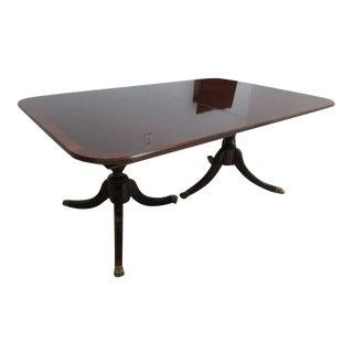 Thomasville Mahogany Banded Banquet Dining Table