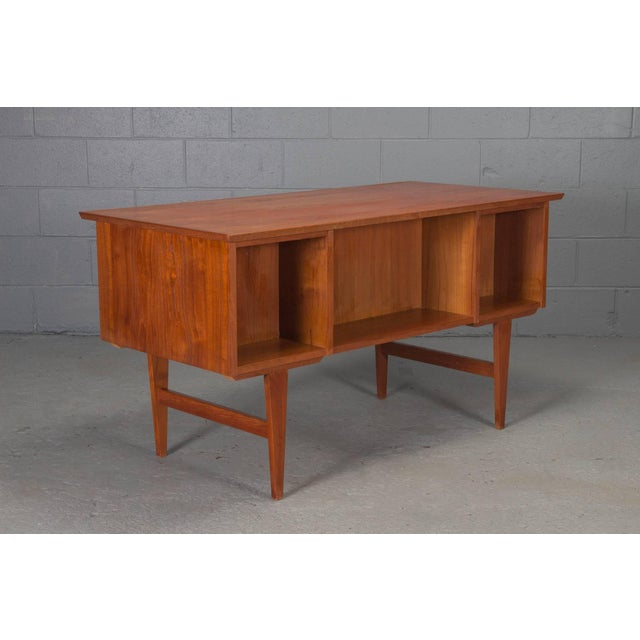 Mid-Century Modern Danish Modern Teak Desk For Sale - Image 3 of 10