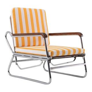 Tubular Chrome Lounge Chair, 1950s, Italy For Sale