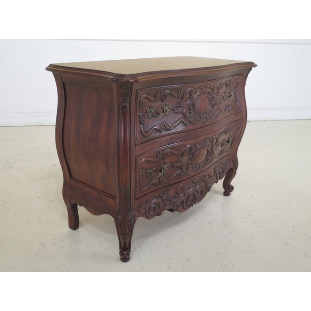 French John Widdicomb French Louis XV Style Carved 2 Drawer Chest For Sale - Image 3 of 11