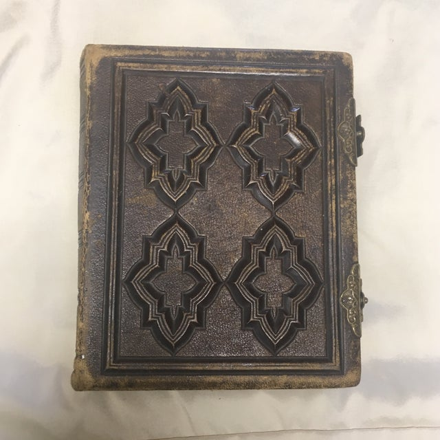 Antique Leather Civil War Era Photo Album By Roberts Brothers Of