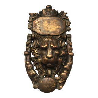Bronze Lion Head Door Knocker For Sale