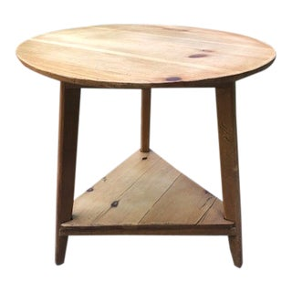 Antique Pine Cricket Table For Sale