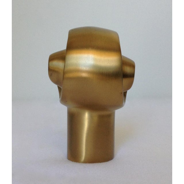 1990s German Custom Brushed Bronze Infinity Swirl Finial For Sale - Image 5 of 8