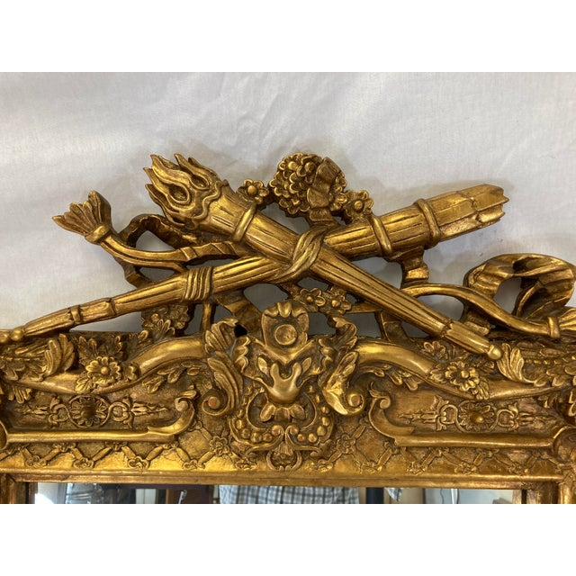 18th Century Style Gilt Mirror For Sale - Image 4 of 5