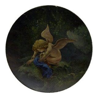 "1890 Vintage ""Little Angel"" Decorative Plate For Sale"