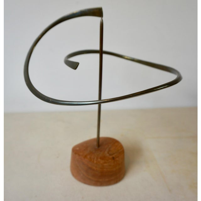 Metal Kinetic Bronze Sculpture by Russell Secrest For Sale - Image 7 of 7