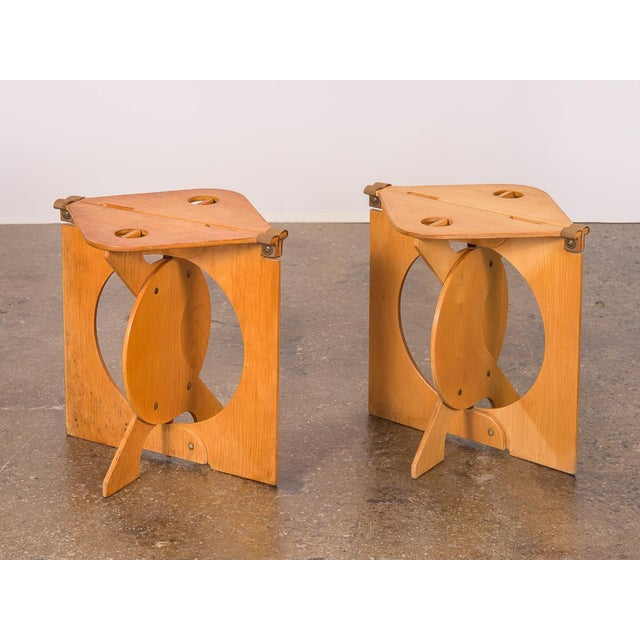 1960s Barry Simpson Rooster Folding Stools - a Pair For Sale - Image 12 of 12