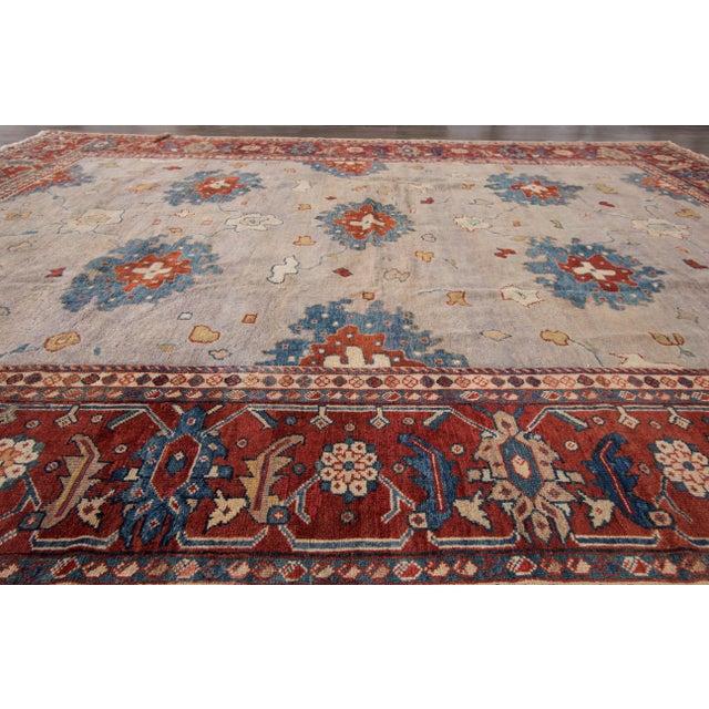 Textile Apadana - Antique Persian Mahal Rug, 9' x 11' For Sale - Image 7 of 7