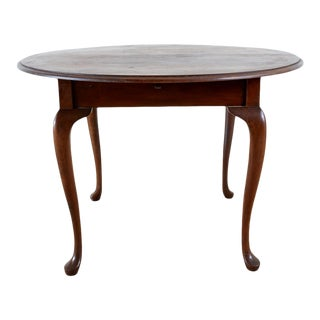 Queen Anne Style Mahogany Round Breakfast Table For Sale