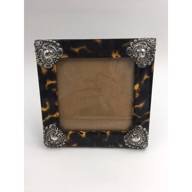 Contemporary Linda Levinson Faux Tortoise Photo Frame For Sale - Image 9 of 9