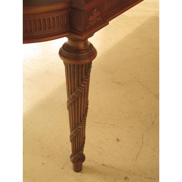 EJ Victor Regency Burl Walnut Dining Room Table For Sale - Image 5 of 11