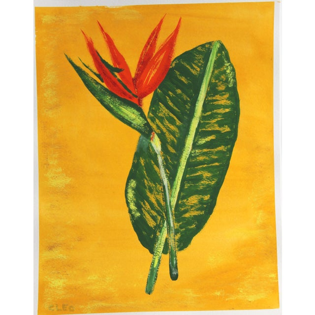 Chinoserie Botanic Tropical Leaves Painting by Cleo Plowden For Sale - Image 11 of 11