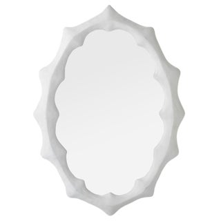 Stephen Antonson White Plaster/Resin Mirror