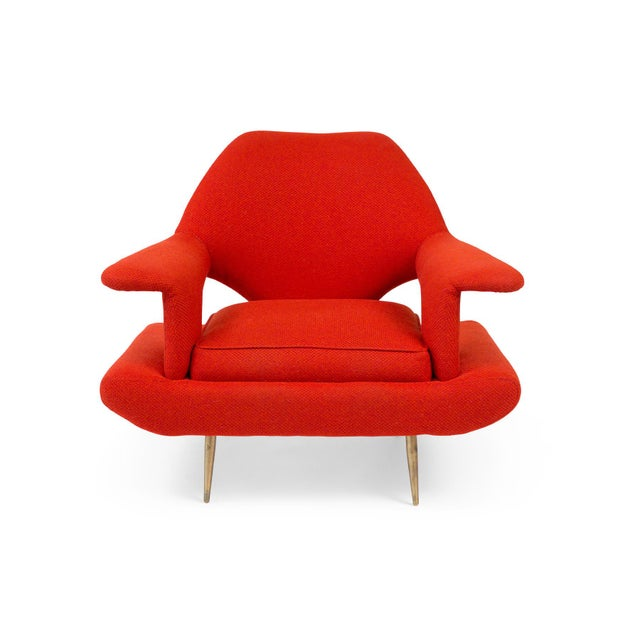 1960s Sculptural Large Mid-Century Italian Lounge Chairs - a Pair For Sale - Image 5 of 10