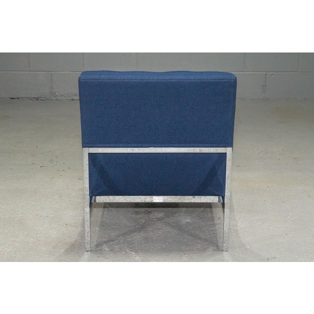Metal 1960s Vintage Florence Knoll Armless Lounge Chair For Sale - Image 7 of 11