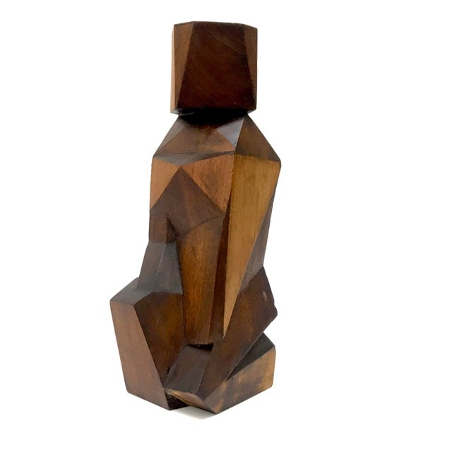 Signed Cubist Abstract Figure Sculpture - Image 6 of 6
