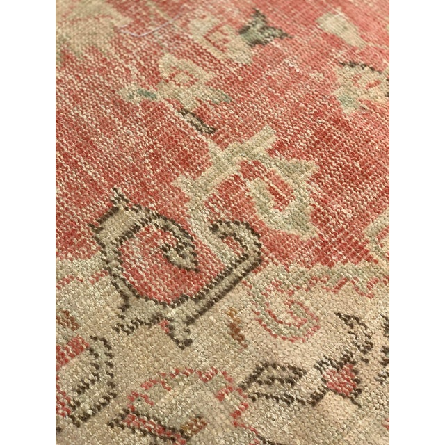 1920s Antique Distressed Turkish Oushak Area Rug - 6′6″ × 9′4″ For Sale - Image 9 of 13