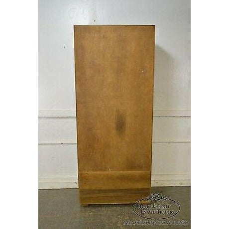 Henredon Campaign Style Open Bookcase Cabinet For Sale - Image 12 of 13