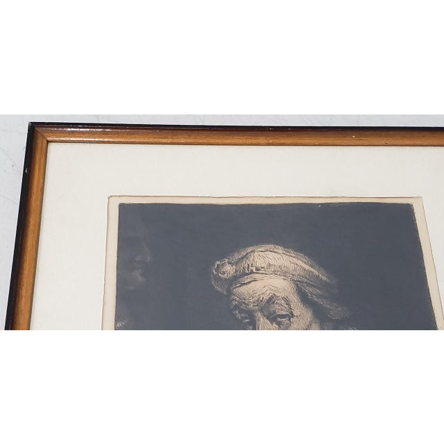 Rembrandt Self Portrait Engraving For Sale - Image 4 of 8