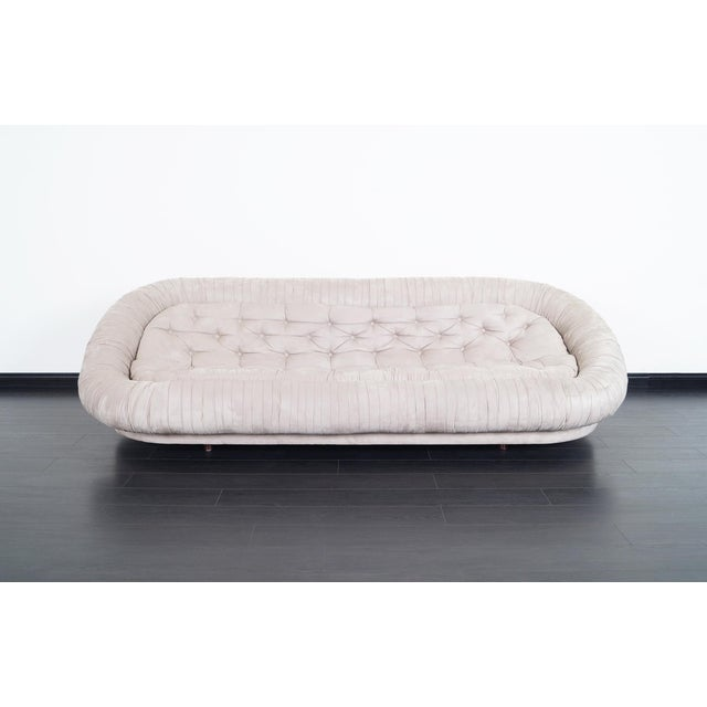 "Vintage Italian Tufted ""Cloud"" Sofa For Sale - Image 4 of 7"