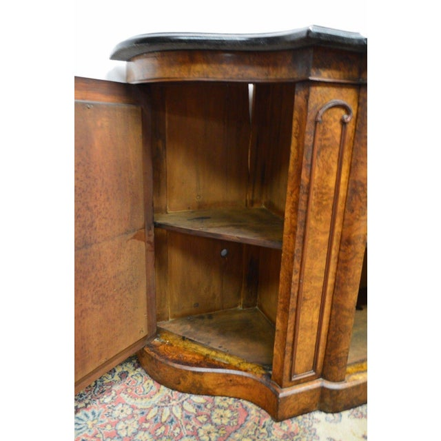 Antique 1800's Burl Walnut Mirrored Sideboard For Sale - Image 4 of 11