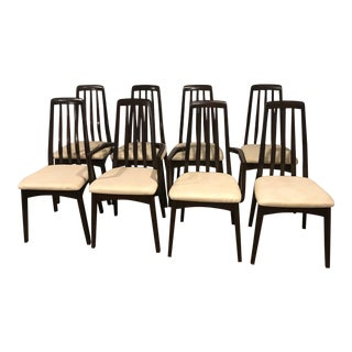 Vintage Mid Century Benny Linden Rosewood Dining Chairs- Set of 8 For Sale
