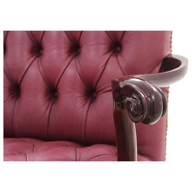 Leathercraft Maroon Tufted Executive Chair - Image 3 of 7