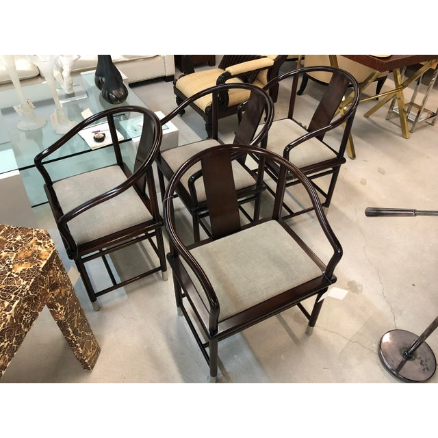 1990s Brueton Ming Inspired Chairs - Set of 4 For Sale - Image 13 of 13