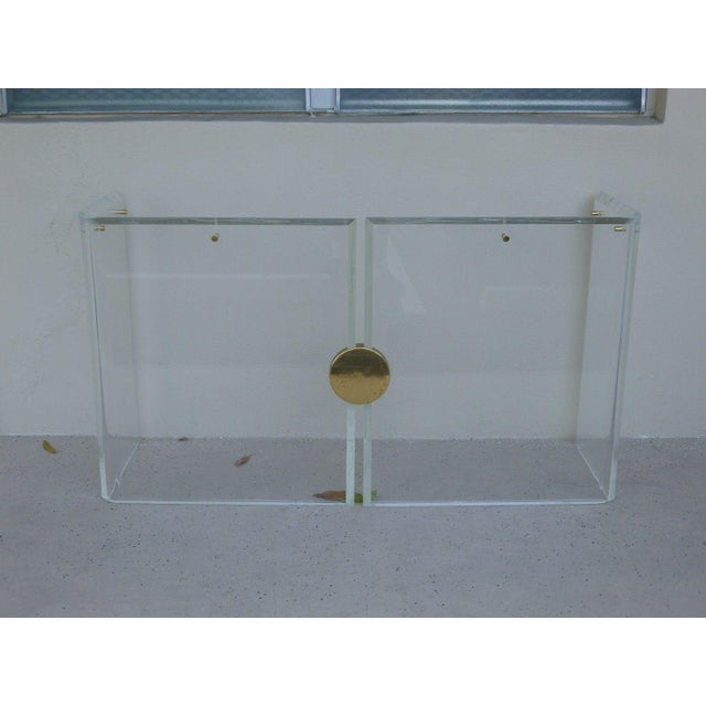 1970's Vintage Lucite Console Table For Sale In Miami - Image 6 of 7