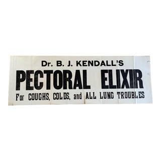 Antique Doctors Sign, Old Ephemera For Sale
