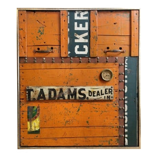 "T. Adams ""Dealer"" Contemporary Sculptural Collage For Sale"