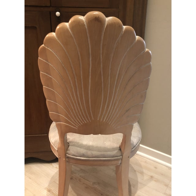 Wood Vintage Clam Shell Grotto Chairs - Set of 6 For Sale - Image 7 of 11