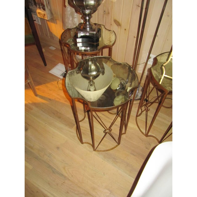 Two Gilt Metal and Antique Mirror Drink Table in the Style of Bagues For Sale - Image 4 of 5