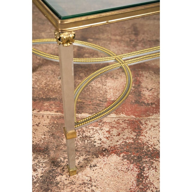 Hollywood Regency Mix Metal Bronze Coffee Table For Sale - Image 4 of 9