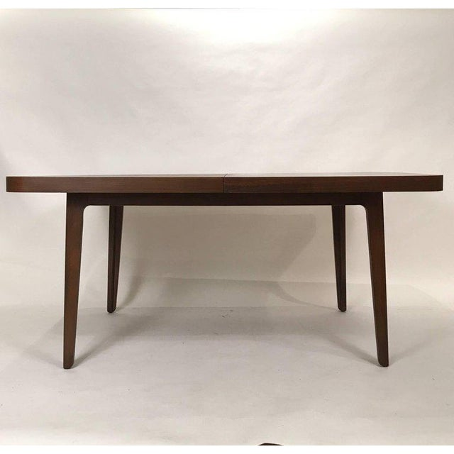 Beautiful original Edward Wormley for Drexel extension dining table. This piece retains it's original finish and is...