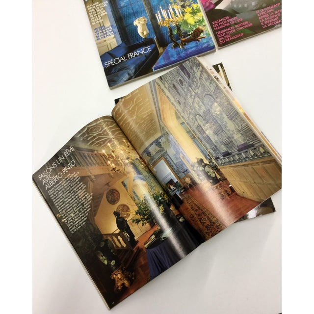 Blue French Interior Decorating Magazines - Set of 5 For Sale - Image 8 of 13